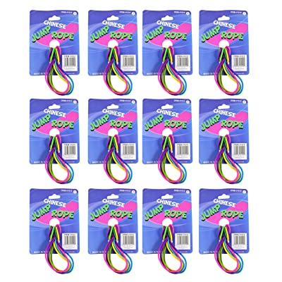 Curious Minds Busy Bags Bulk - 12 Chinese Jump Ropes - Classic Summer Outside Active Toy Children's Class Gym Recess Playground Fun, Party Favors: Toys & Games
