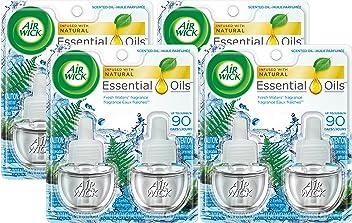 Air Wick Scented Oil 8 Refills, Fresh Waters, (4X2x0.67oz), Air Freshener