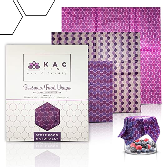KAC Line Envoltorio de cera de abeja 100% orgánico almacenamiento ...