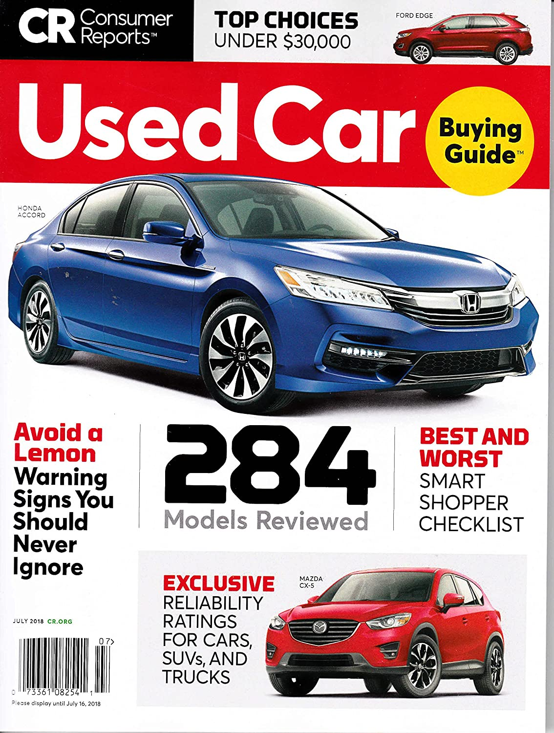 Amazon Com Consumer Reports Used Car Buying Guide July  Sports Outdoors