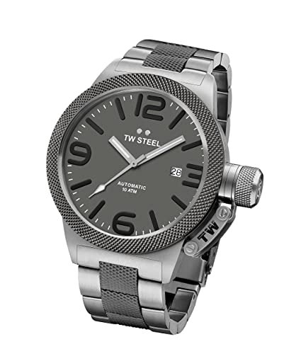 c359ef2b3bf TW Steel Men s Automatic Watch with Grey Dial Analogue Display and Silver  Stainless Steel Plated Bracelet CB205  Amazon.co.uk  Watches