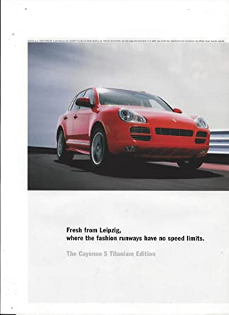 Amazon.com: MAGAZINE ADVERTISEMENT For 2006 Red Porsche Cayenne Cars: Entertainment Collectibles