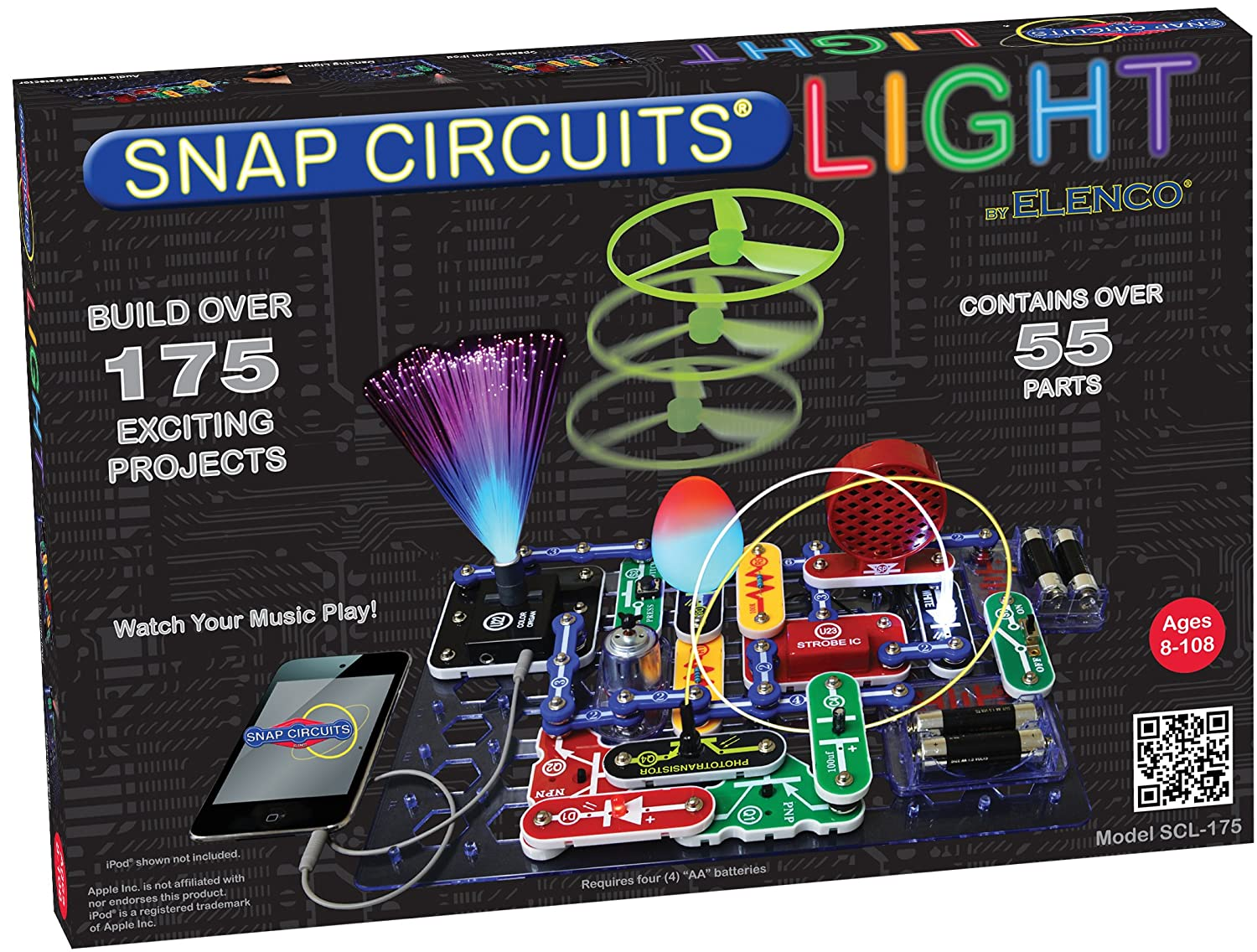 Shadow Alarm Hobby Circuits And Projects Snap Scl 175 Lights Electronics Exploration Kit Over Exciting Stem 4 Color Project Manual 55 Modules