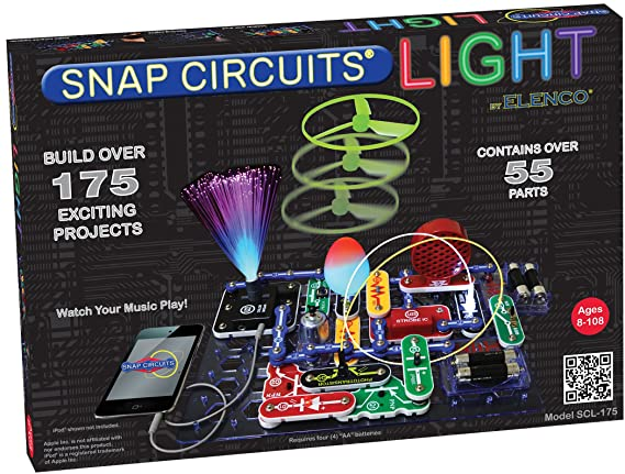 Amazon snap circuits lights electronics discovery kit toys games solutioingenieria Image collections