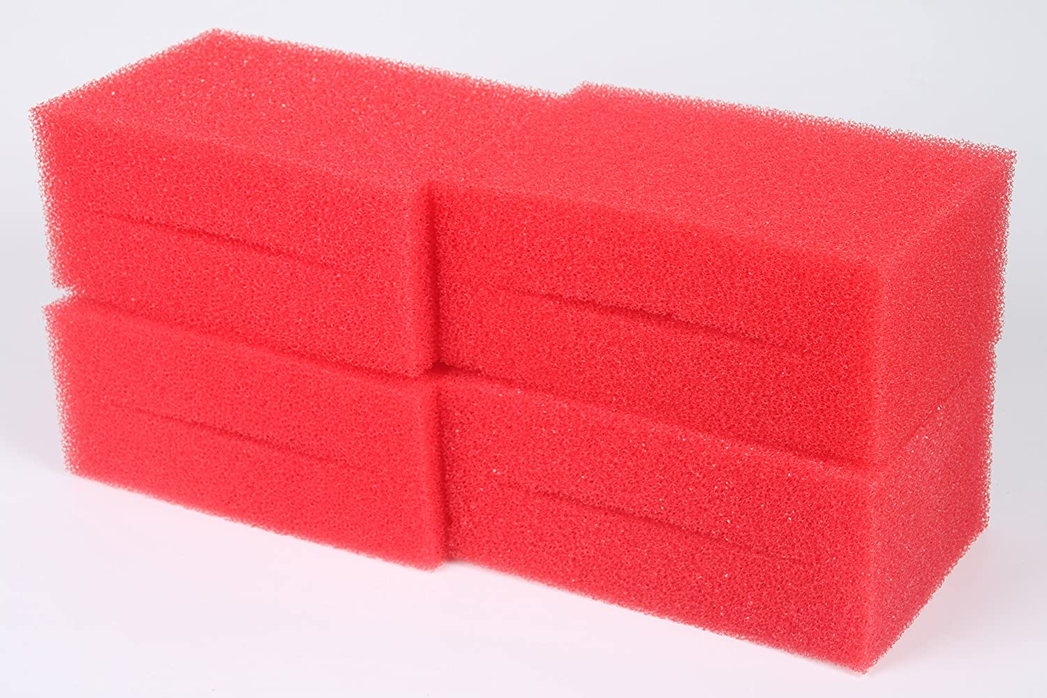 Pack of 4 LTWHOME Medium Red Foam Filter Sponge Fit for Oase Biotec Screenmatic 18 & 36 Pond Filter (Pack of 4)