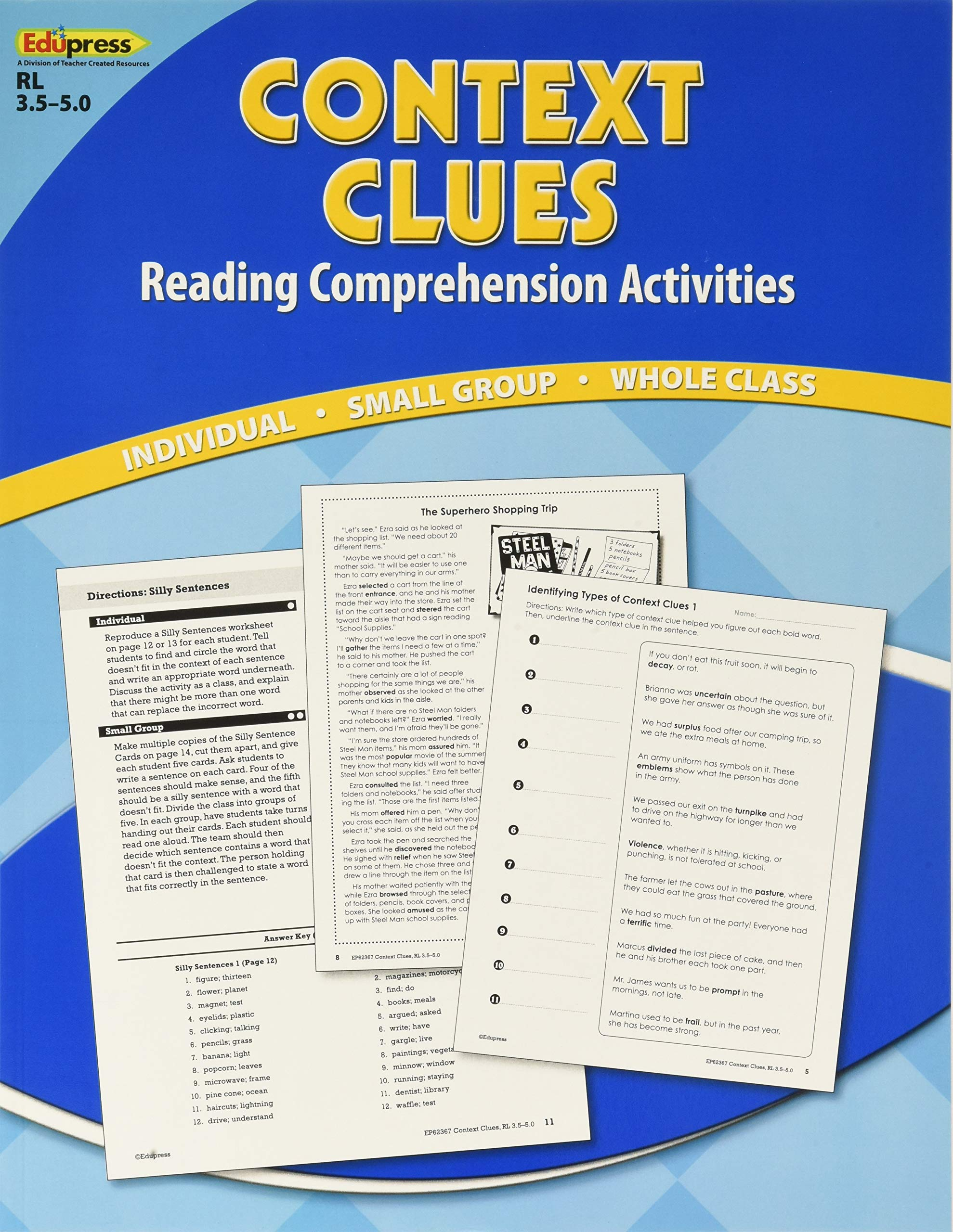 - Context Clues: Reading Comprehension Activities: TCR Staff