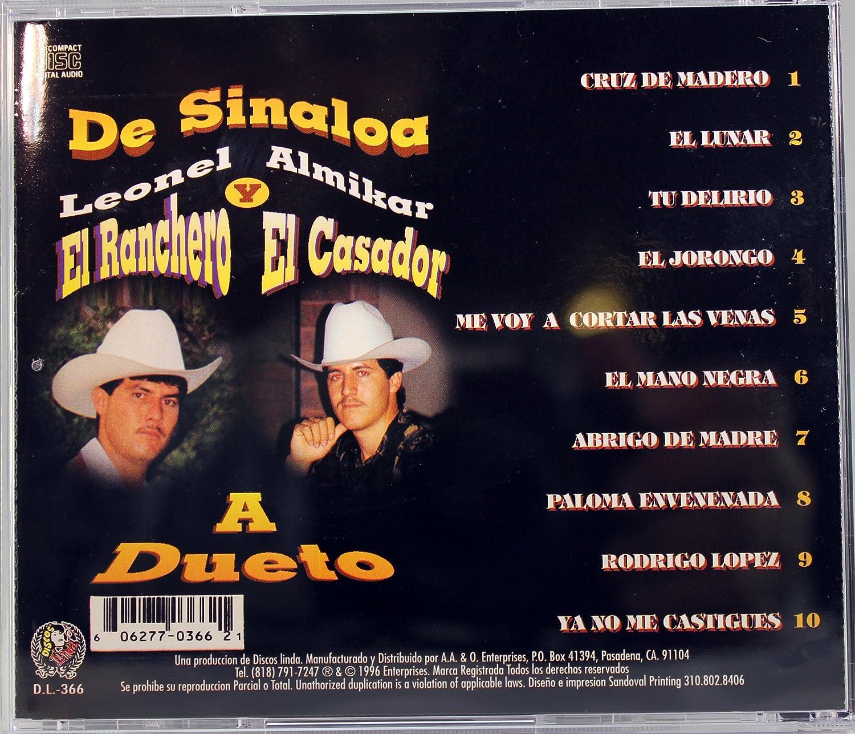 LEONEL EL RANCHERO Y ALMIKAR EL CAZADOR - De Sinaloa a Dueto - Amazon.com Music