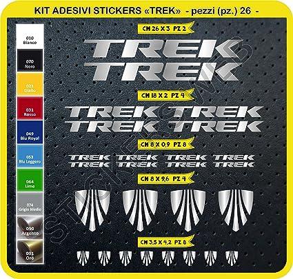 Pimastickerslab Adesivi Bici Trek Kit Adesivi Stickers 26 Pezzi Scegli SUBITO Colore Bike Cycle pegatina cod.0115