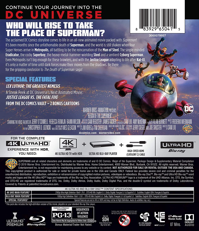 Dcu: Reign of the Supermen [USA] [Blu-ray]: Amazon.es: Jerry ...