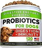 Dog Probiotics Treats for Picky Eaters - Digestive Enzymes + Prebiotics - Chewable Fiber Supplement - Allergy, Diarrhea…