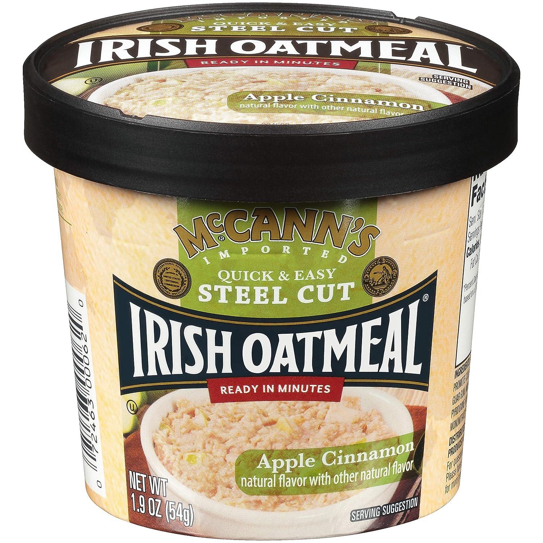 McCann's Instant Oatmeal Cup, Apple Cinnamon, 1.9 Ounce (Pack of 12)