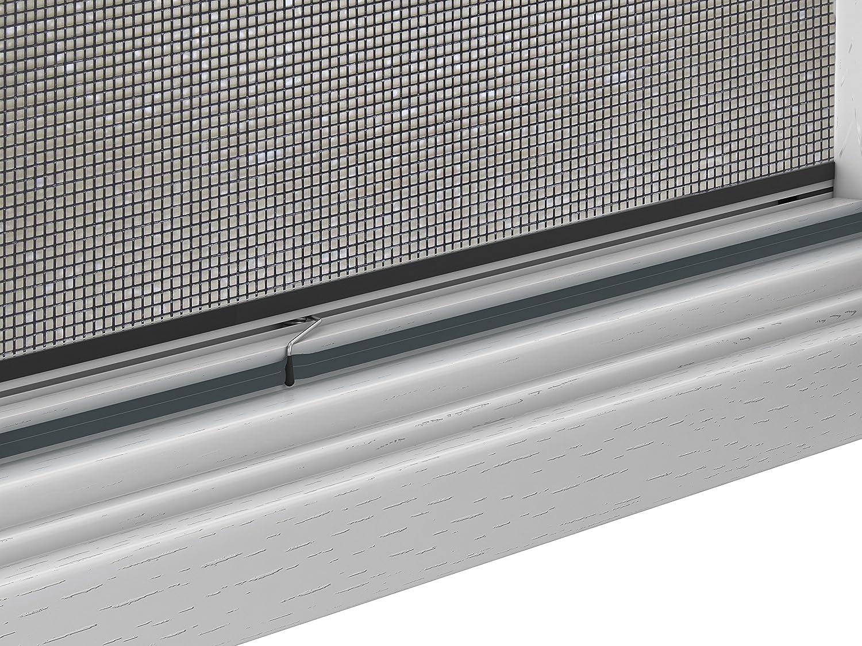 Insektenschutz Fliegengitter Fenster Alurahmen Master SLIM Wunschma/ß Zuschnitt Bausatz wei/ß braun oder anthrazit