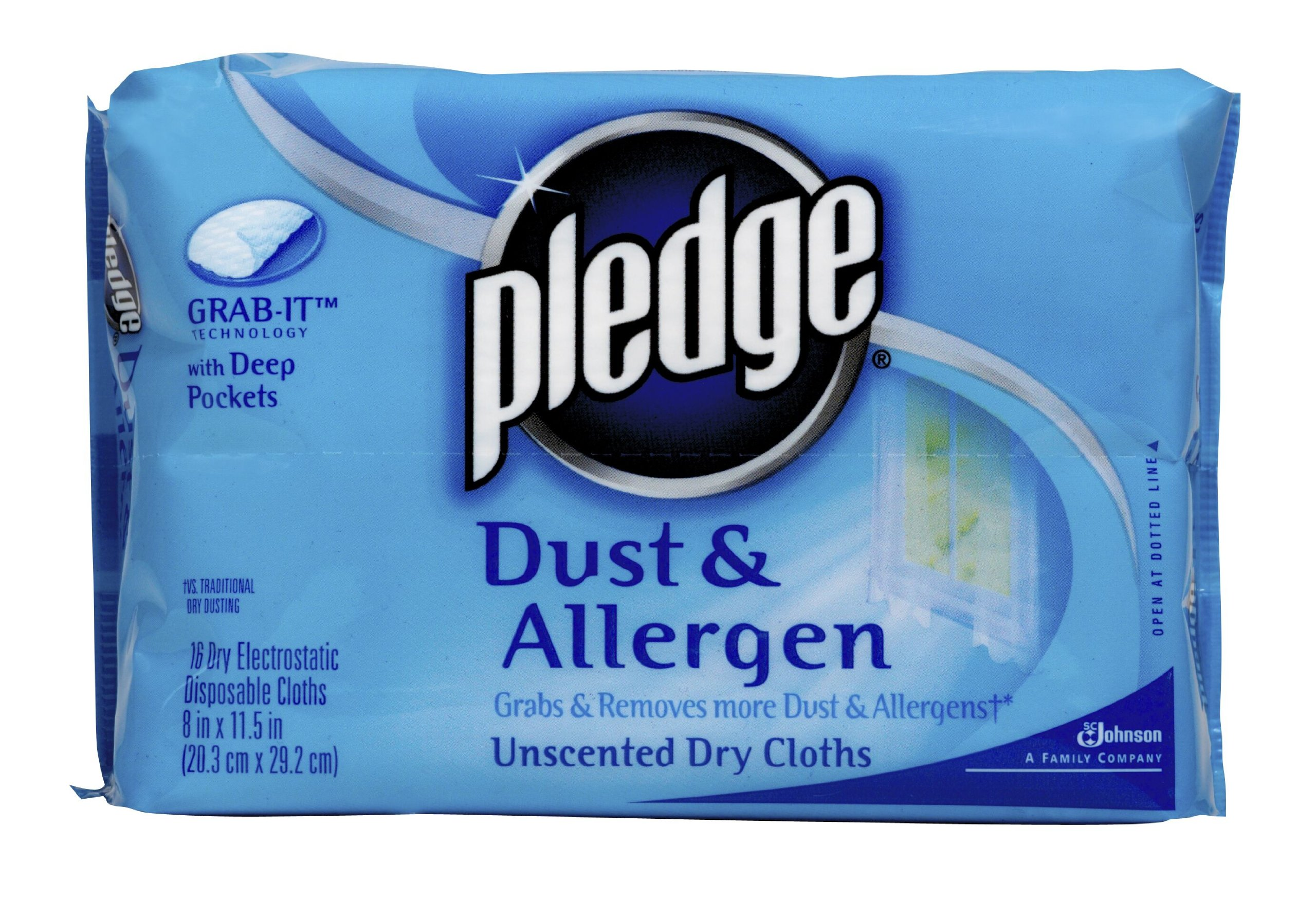 Pledge Grab-It Refill, Unscented, Dust & Allergen, 16-Count (Pack of 6)