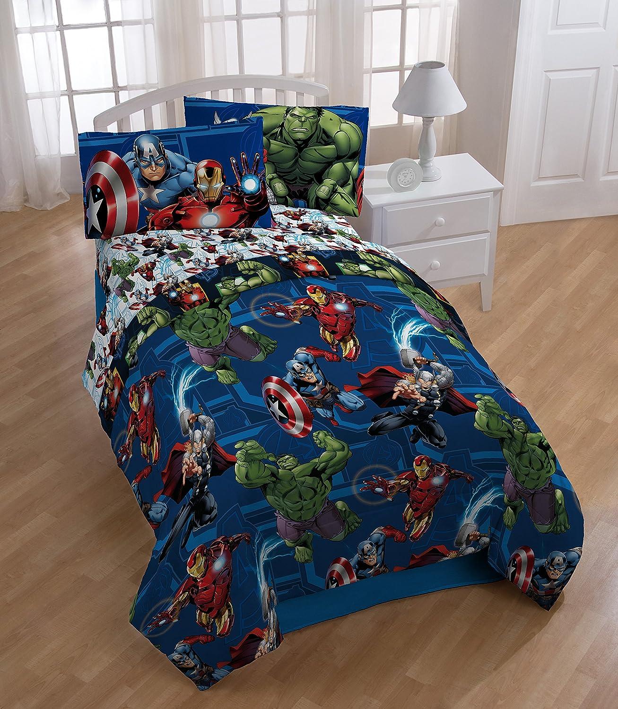 Marvel Avengers Heroic Age Twin Comforter - Super Soft Kids Reversible Bedding