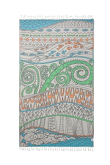 Amazon.com: InfuseZen toalla turca de neón, toalla de playa ...