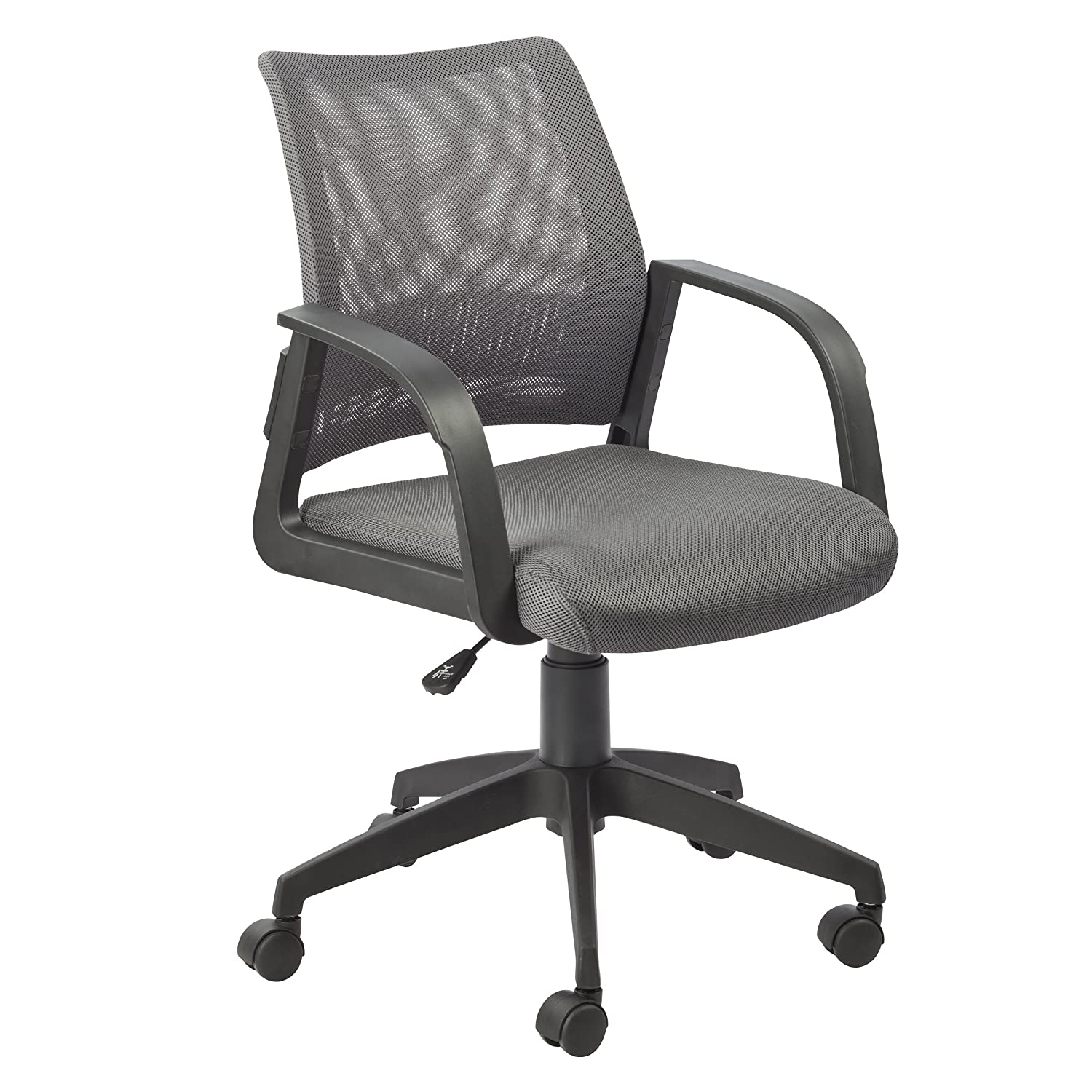 Grey Leick Black Mesh Back Office Chair