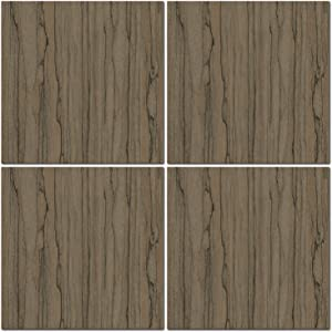 Luxury Wall 4 Piece 20in Square Modern Panels Decor for Home or Business, Do-it-yourself Interior Decorative Wall Panels (Limba Dunkel)