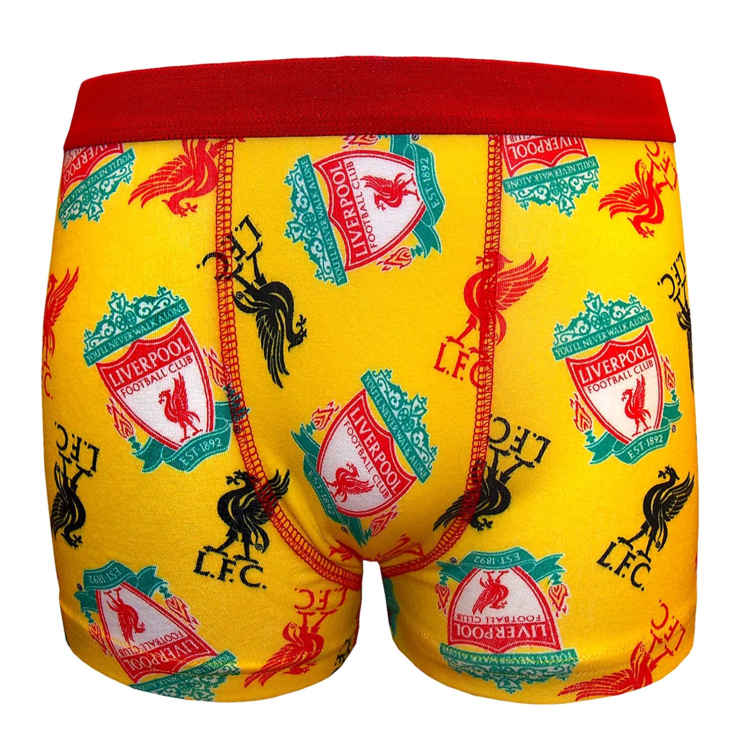 Liverpool FC LFC Ladies 2 Pack White Grey Red Liverbird Boxers Knickers Official