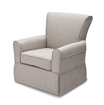 Charmant Delta Furniture Upholstered Glider Swivel Rocker Chair, Taupe