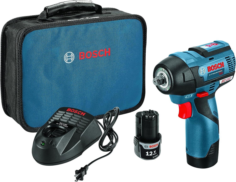 Bosch PS82-02 12V Max EC Brushless 3 8 Impact Wrench Kit