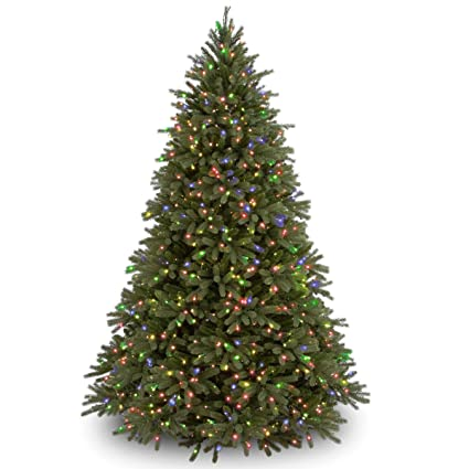 a7f1b388ebbf8 Image Unavailable. Image not available for. Color  National Tree 7.5  quot  Feel-Real quot  Jersey Fraser Fir Tree with 1250 Multicolor
