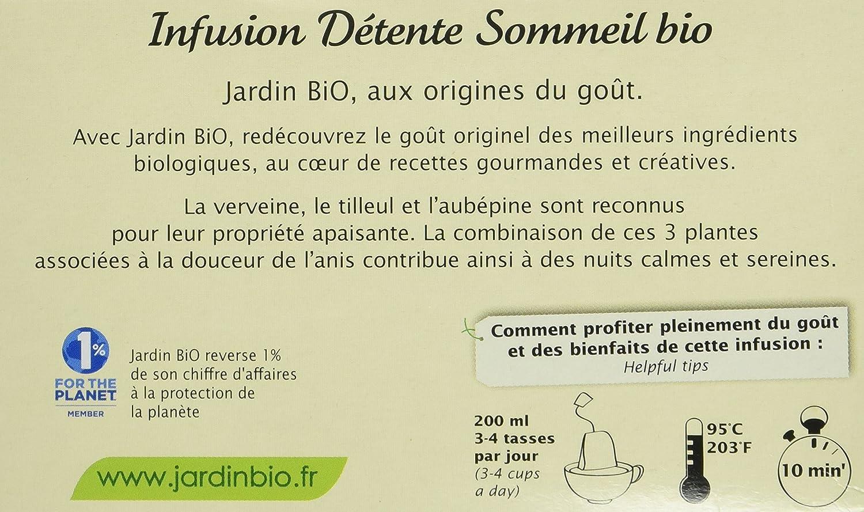 Jardin Bio Infusion Detente Sommeil 30 G Lot De 4 Amazon Fr Epicerie
