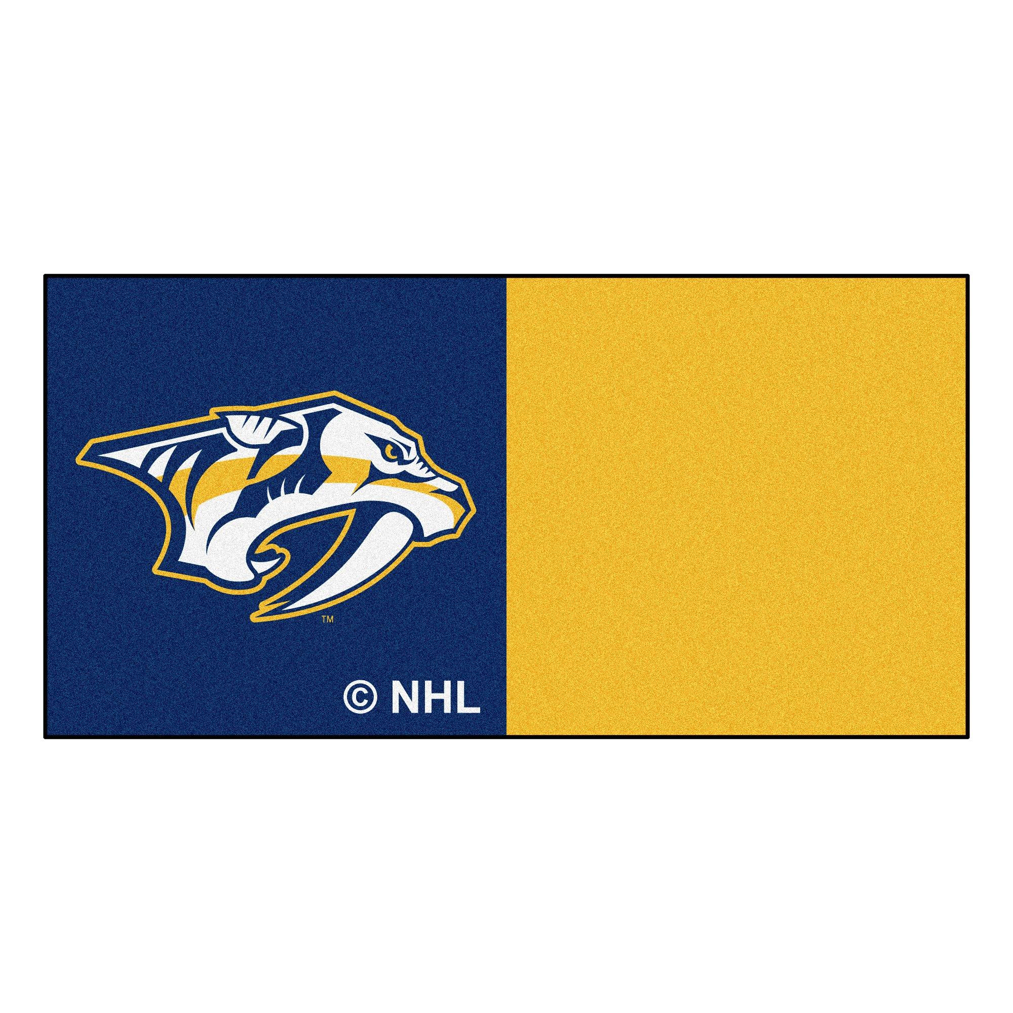 FANMATS NHL Nashville Predators Nylon Face Team Carpet Tiles by Fanmats