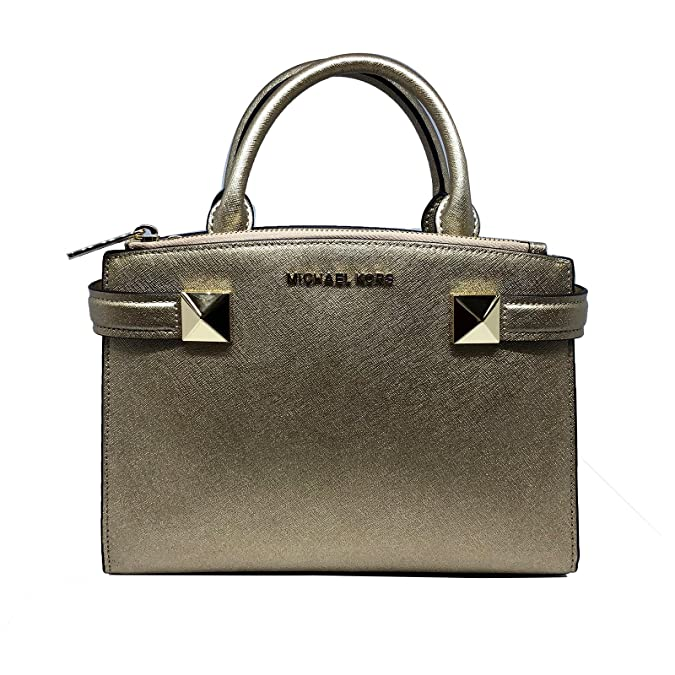 ea5b6ab65d57ba Amazon.com: Michael Kors Karla Small EW Leather Satchel Bag in Luggage:  Clothing