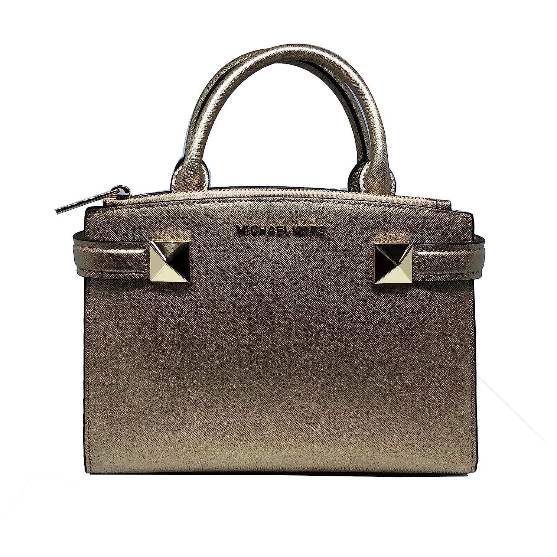 e87afa07089373 Amazon.com: Michael Kors Karla Small EW Leather Satchel Bag in Luggage:  Clothing