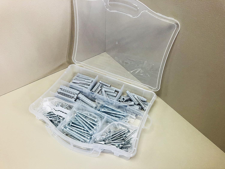 grau Fischer 513433/Kit Easy Box D/übel und Schrauben sortiert f/ür Befestigung auf Mauerwerk voller Set von 136/St/ück