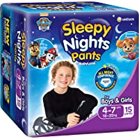 BabyLove SleepyNight Pants, Size 4-7yrs (18-35kg), 60 Nappies (4x 15pack)
