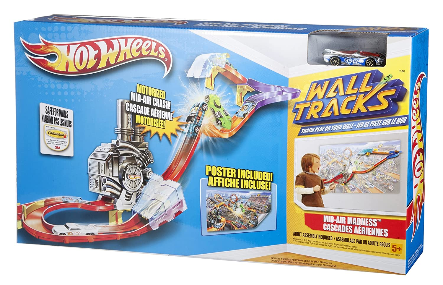 Buy Hotwheel Hot Wheels Wall Tracks Booster Set Online at Low Prices ...