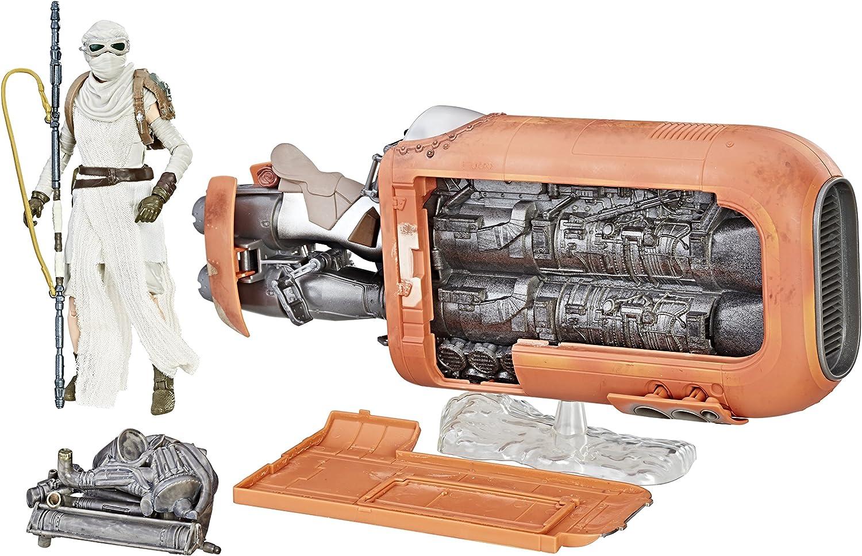 The Black Series Rey's Speeder and Rey Figure Brand New Star Wars Jakku
