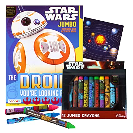 Star Wars Coloring Book With Jumbo Themed Crayons The Force Awakens