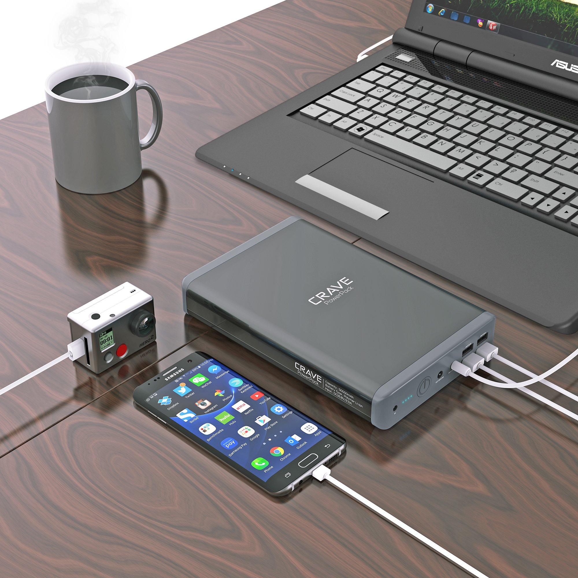 Crave PowerPack CRVPP101 50000 mAh,Dual USB and Dual Laptop Ports Ultra-High Density Portable Power Bank by Crave (Image #7)