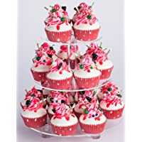 YestBuy 3 Tiers Round Party Wedding Birthday Clear Tree Tower Acrylic Cupcake Stand (9.9 Inches)