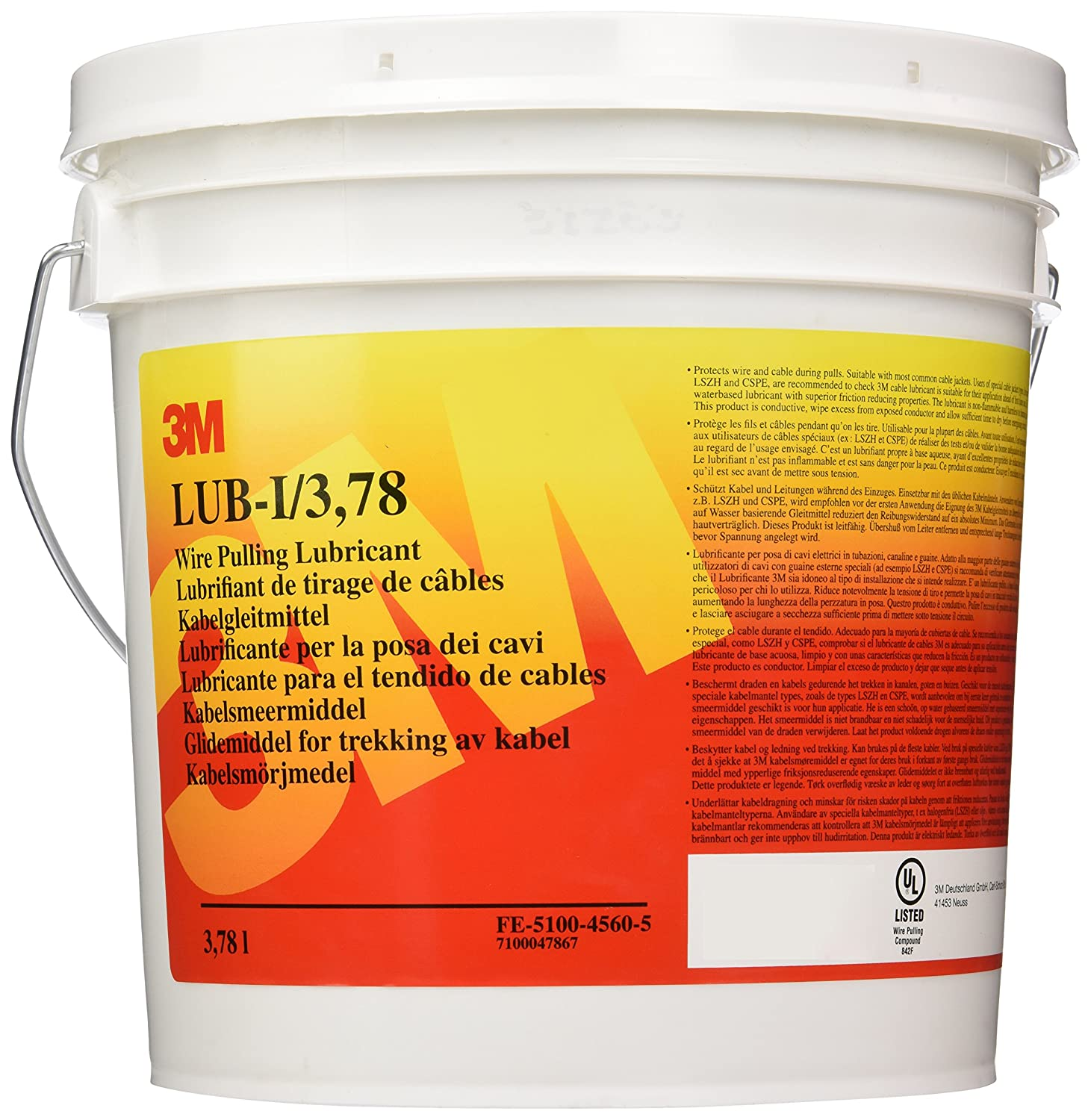 3M Wire Pulling Lubricant, LUB-I 3.78l: Amazon.co.uk: Business ...