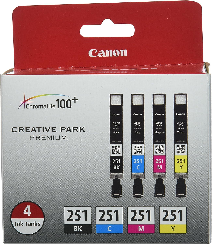 Cartucho para Canon CLI-251 BK / CMY 4PK. Pack 4
