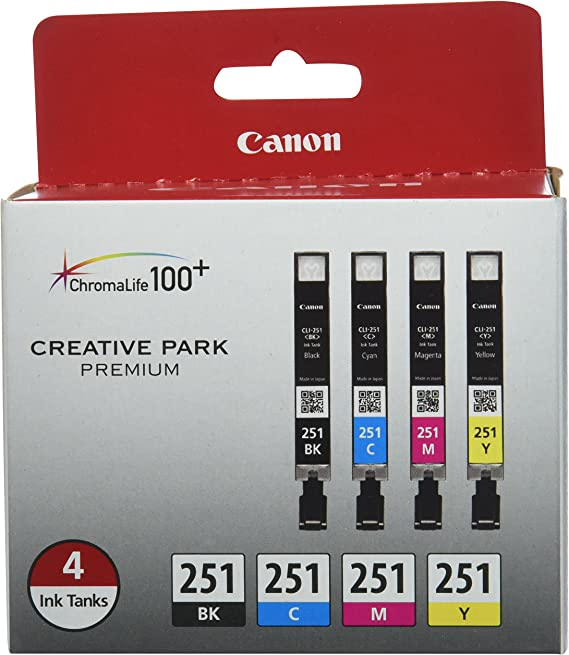 Canon CLI-251 BK/CMY 4PK (4-Color Pack)