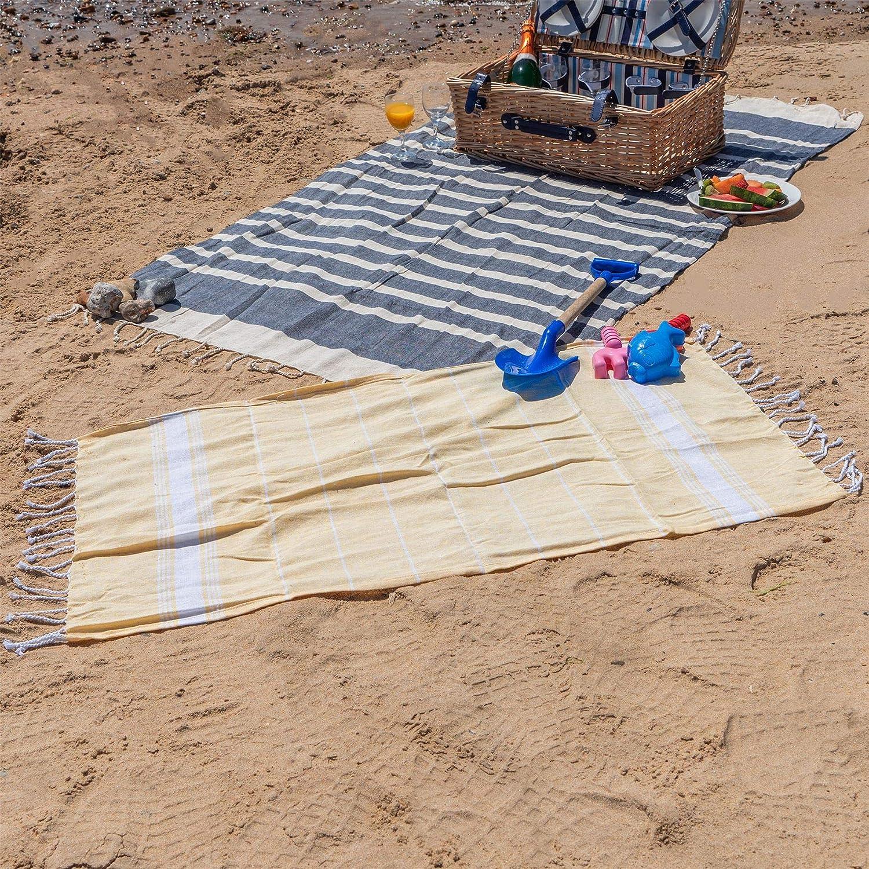 in Stile Peshtemal//Fouta Piscina Terme Nicola Spring Telo Bagno Bambino Giallo 100/% Cotone Turco Ideale per Spiaggia