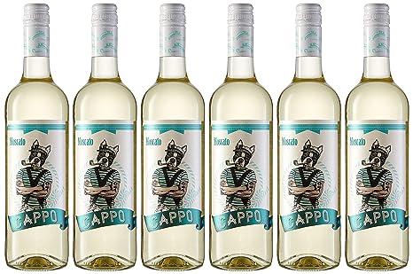 Cappo Moscato. Vino Blanco - 6 Botellas x 750 ml - Total: 4500 ml