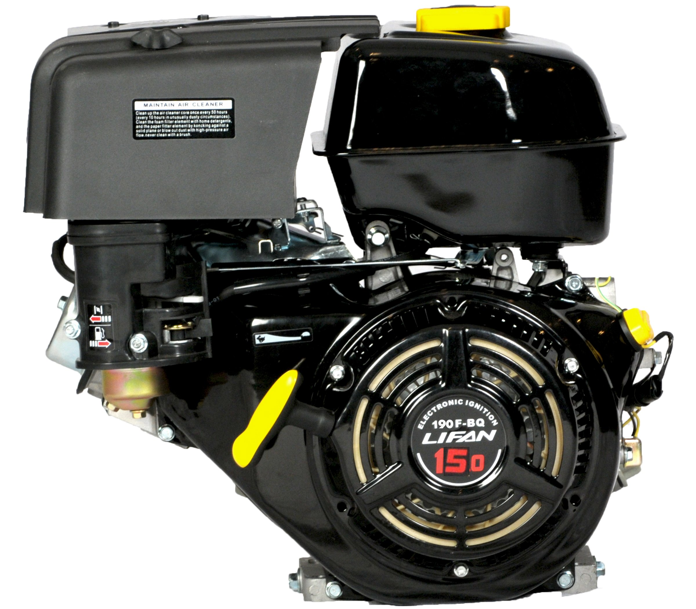 Lifan LF190F-BQ 15 HP 420cc 4-Stroke OHV Industrial Grade Gas Engine with Recoil Start and Universal Mounting Pattern by Lifan