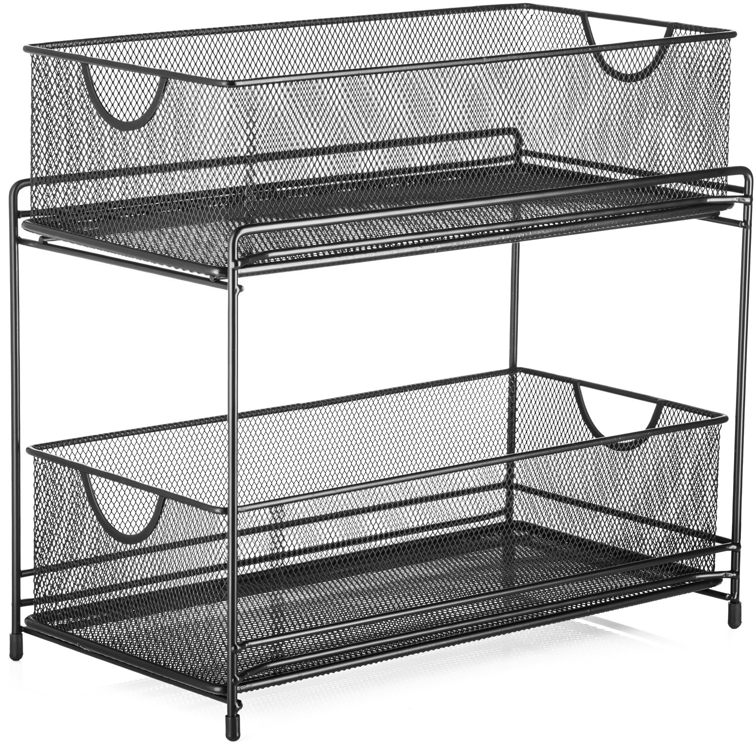 Halter Two Tier Mesh Storage Drawers Baskets for Laundry Kitchen Office Bathroom and More - 14