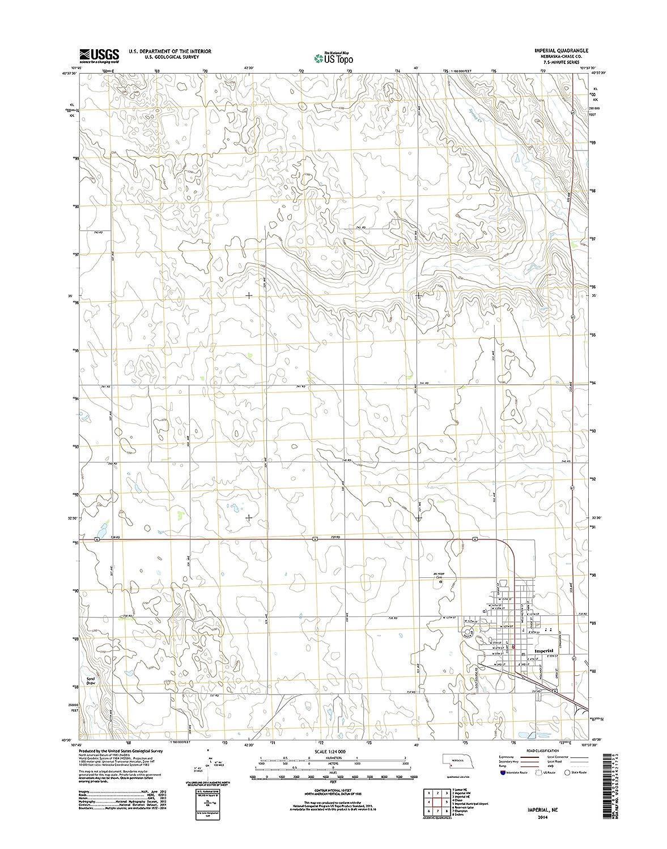 Imperial Nebraska Map.Amazon Com Topographic Map Poster Imperial Ne Tnm Geopdf 7 5x7 5