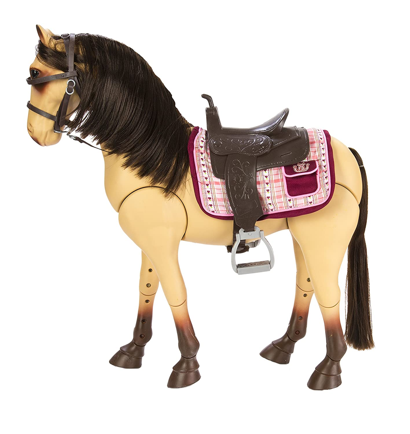 """Amazon Our Generation Poseable Morgan Horse For 18"""" Dolls"""