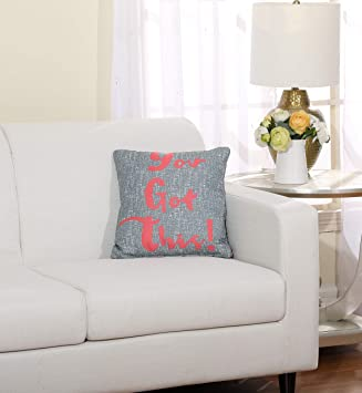 Stratford Park Daily Motivation Throw Pillow 16 X 16 Grey Coral Home Kitchen