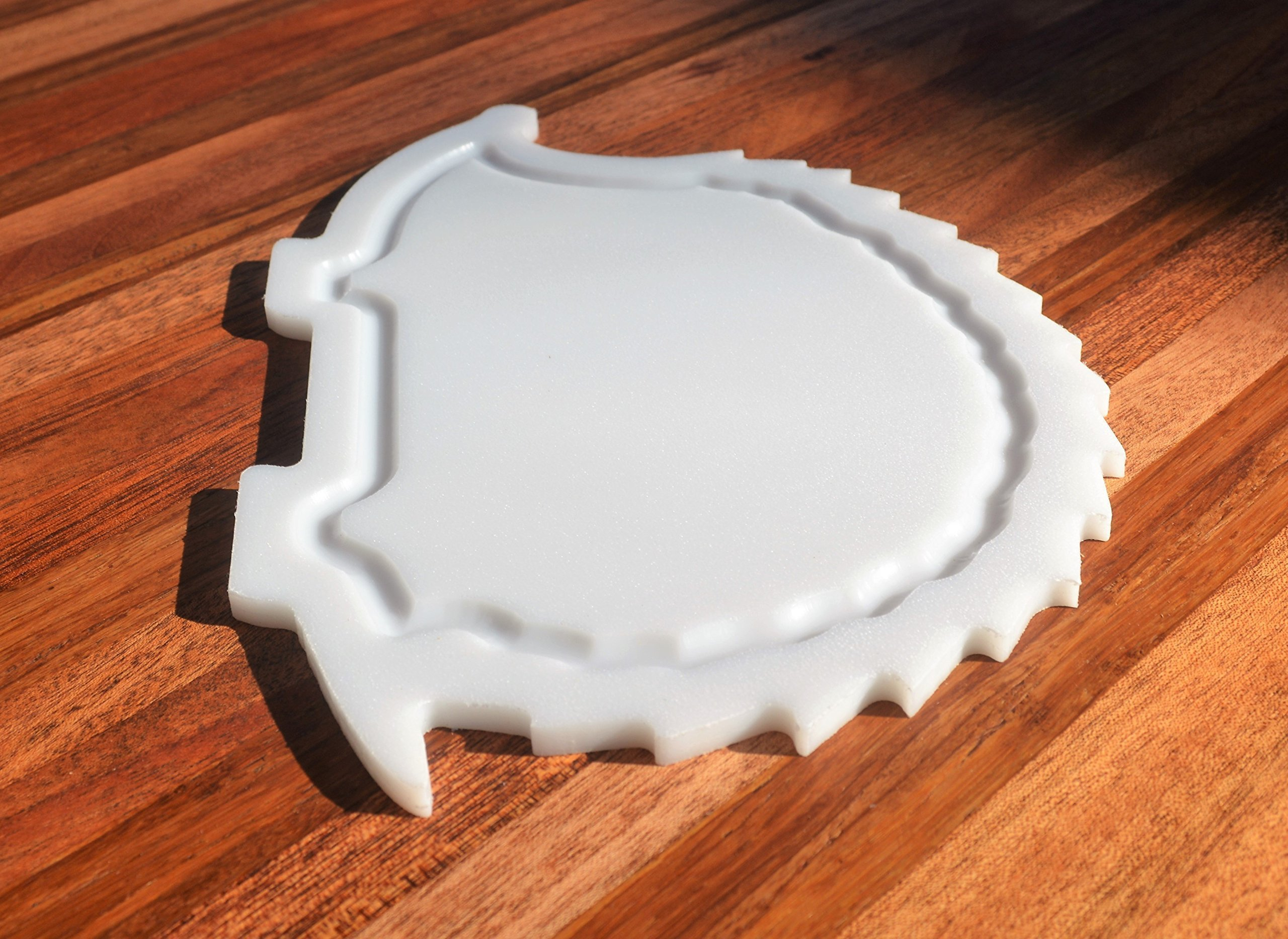 NEW HIGH QUALITY - Hedgehog Shaped White Plastic HDPE Cutting Board 11x7 Animal Lovers Dishwasher Safe FREE FAST SHIPPING! by With the Grain Woodworks (Image #3)