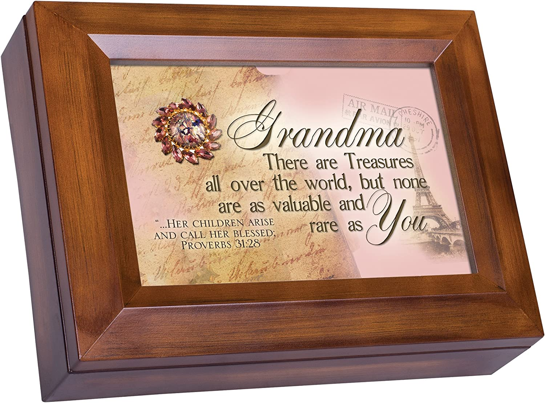 Cottage Garden Grandma Treasures Valuable Like You Woodgrain Digital Keepsake Music Box Plays I Can Only Imagine