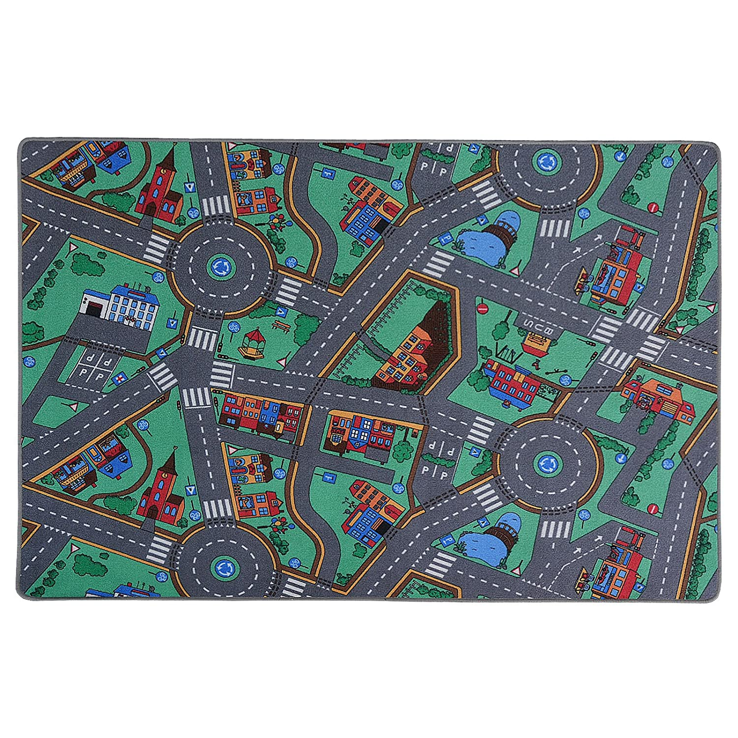 Children's Play Mat - My Town - 100x165cm - 4 sizes available Floori Carpets