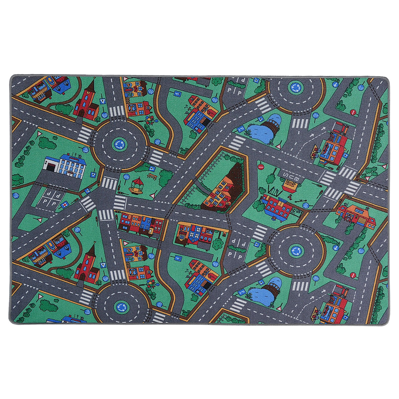 Kids Play Mat | Kids Rug for Playroom, Non Toxic Anti-Slip | Car Rug Play Mat Suitable for Bedrooms & Nursery | My Town - 32'' x 48''
